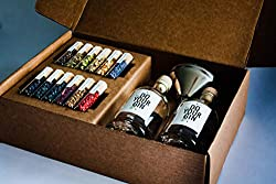 DIY Gin-Making Alcohol Infusion-Kit | DO YOUR GIN Featured in Vogue | 12 Spices in Glasses | Mixology-Set for Bartender | Perfect Vodka-Gift for Men