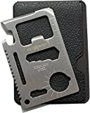 Guardman 2pcs 11 in 1 Multi Tool Credit Card Survival Tool Fits Perfect in Your Wallet (2 Pack) Stocking Stuffers for Men Christmas Gifts Under 20 Dollars