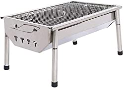 STAINLESS STEEL FOLDING BBQ KABAB GRILL