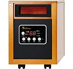 Dr Infrared Heater, DR968 Quartz Plus PTC Infrared Portable Space Heater