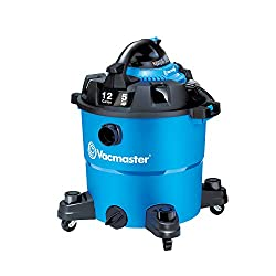 Vacmaster VBV1210, 12-Gallon* 5 Peak HP** Wet/Dry Shop Vacuum with Detachable Blower, Blue