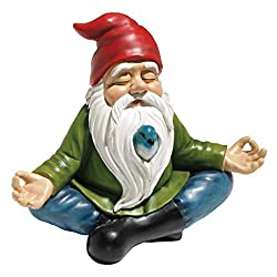 Design Toscano Zen Garden Gnome Statue, 24 cm, Polyresin, Full Color