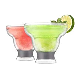 HOST Margarita Freeze Cooling Cups (Set of 2), Grey, 12 oz.