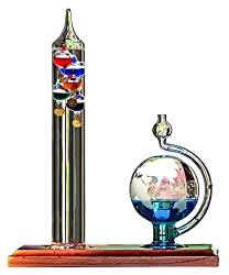 AcuRite 00795A2 Galileo Thermometer with Glass Globe Barometer, Barometer Set