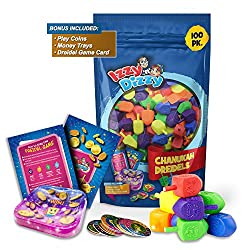 100 Medium Dreidels - Assorted Colors - Classic Chanukah Spinning Draidel Game and Prize - Bulk Value Pack - By Izzy 'n' Dizzy